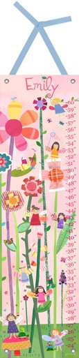 Canvas Woodland Fairies Growth Chart - Wall Sticker Outlet