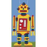 Yellow Robot Wall Canvas Art