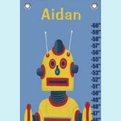 Canvas Yellow Robot Growth Chart