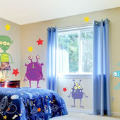 Aliens Among Us Mural Decal