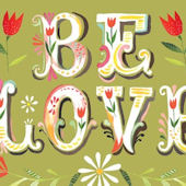 Be Love Posters That Stick Wall Decal