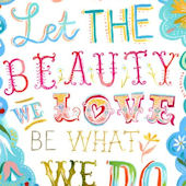 Beauty We Love Posters That Stick Wall Decal