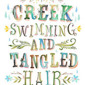 Creek Swimming Posters That Stick Wall Decal