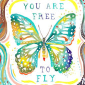 Free To Fly Posters That Stick Wall Decal