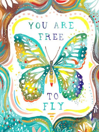 Free To Fly Posters That Stick Wall Decal - Wall Sticker Outlet