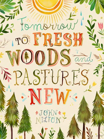 Fresh Woods and Pastures Posters That Stick - Wall Sticker Outlet