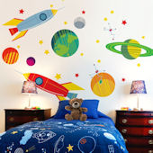 Galactic Travels Outer Space Mural Decal