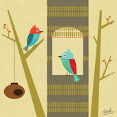 House With A View Birds Canvas Wall Art