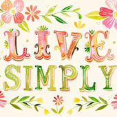 Live Simply Posters That Stick Wall Decal