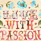 Live With Passion Posters That Stick Wall Decal