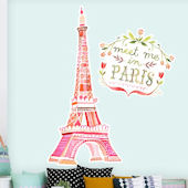 Meet Me In Paris Giant Wall Decals