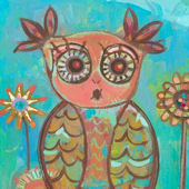Ms Owl Wall Canvas Art