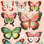 Pink Butterflies That Stick Wall Decal
