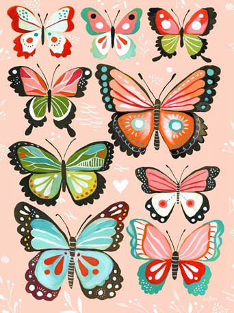 Pink Butterflies That Stick Wall Decal - Wall Sticker Outlet