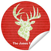 Reindeer Repeat Family Name Holiday Decal