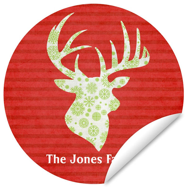 Reindeer Repeat Family Name Holiday Decal - Wall Sticker Outlet