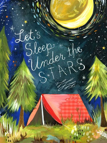 Lets Sleep Under The Stars Posters That Stick - Wall Sticker Outlet