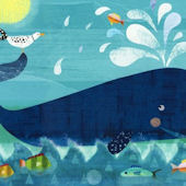 Whale Pals Canvas Wall Art