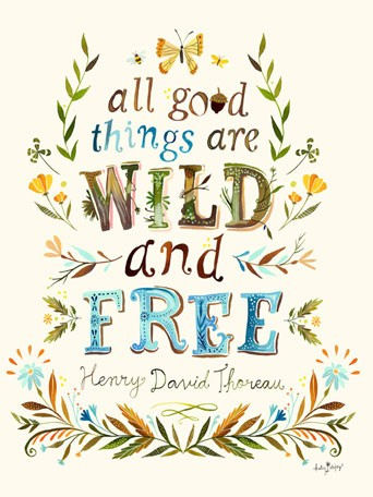 All Good Things Are Wild Posters That Stick - Wall Sticker Outlet
