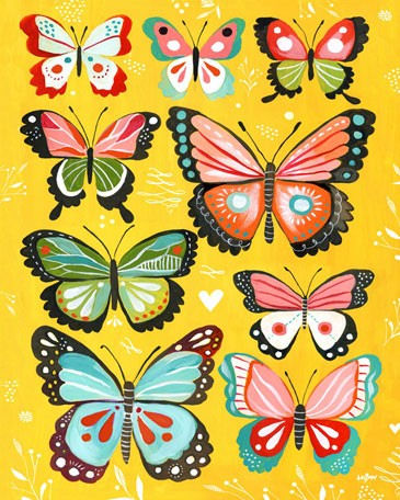 Yellow Butterflies Posters That Stick Wall Decal - Wall Sticker Outlet