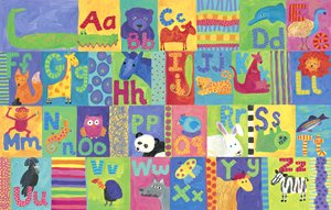 Alligator Alphabet Wall Canvas Art - Wall Sticker Outlet