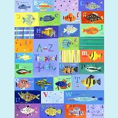 A to Z Tropical Fish Wall Mural