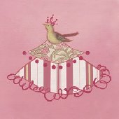 Bird Princess Wall Canvas Art