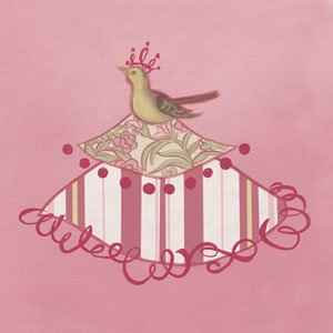 Bird Princess Wall Canvas Art - Wall Sticker Outlet