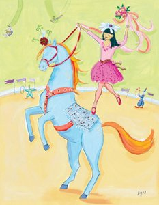 Blue Circus Horse - Kids Wall Decor Store