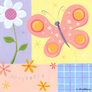 Butterfly & Ladybug Wall Stickers, Decals, & Wall Murals