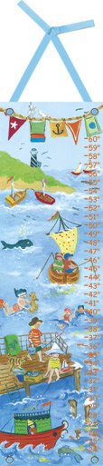 By The Sea Boy Growth Chart - Wall Sticker Outlet