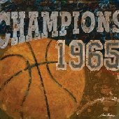Champions Basketball Wall Canvas Art