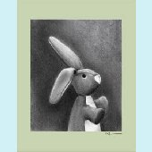 Charcoal Bunny Multiple Color Borders