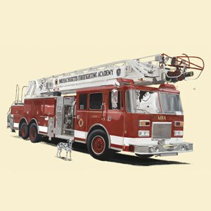 Classic Red Fire Engine - Kids Wall Decor Store