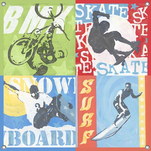 Extreme Sports Wall Mural - Wall Sticker Outlet