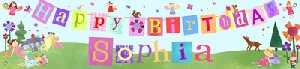 Fairy Girl Birthday Banner - Kids Wall Decor Store