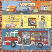 Firehouse Wall Mural