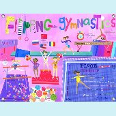 Flipping for Gymnastics Wall Mural