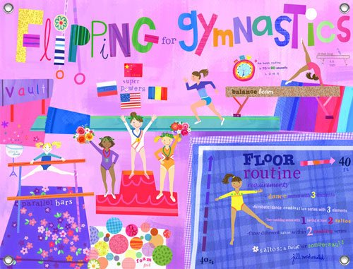 Flipping for Gymnastics Wall Mural - Wall Sticker Outlet