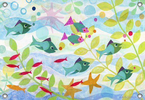 Friendly Fish Wall Mural - Kids Wall Decor Store
