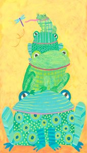 Frog Stack - Wall Sticker Outlet