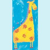 Giraffe and Birds Wall Canvas Art
