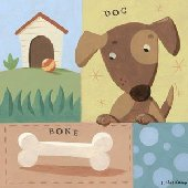 Give a Dog a Bone Wall Canvas Art
