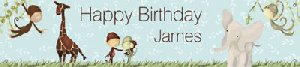 Jungle Boy Birthday Banner - Wall Sticker Outlet