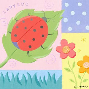 Ladybug Polkadot Wall Canvas Art - Wall Sticker Outlet