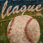 League Baseball Wall Canvas Art