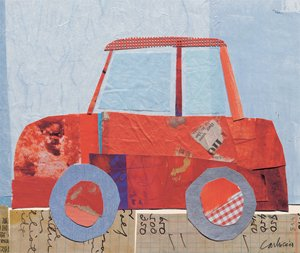 Little Red Car - Kids Wall Decor Store