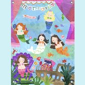 Mermaid Performance Wall Mural