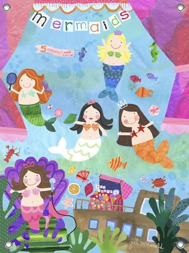 Mermaid Performance Wall Mural - Wall Sticker Outlet