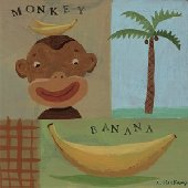 Nana Monkey Wall Canvas Art